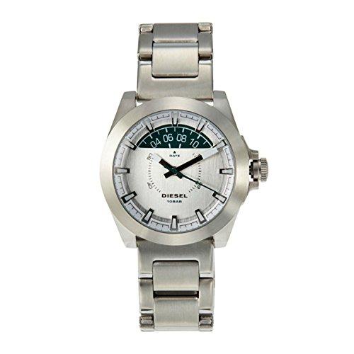 (Diesel Men's 38mm Steel Bracelet & Case S. Sapphire Quartz White Dial Analog Watch DZ1699)