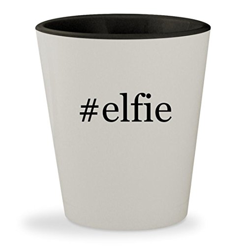 #elfie - Hashtag White Outer & Black Inner Ceramic 1.5oz Shot Glass