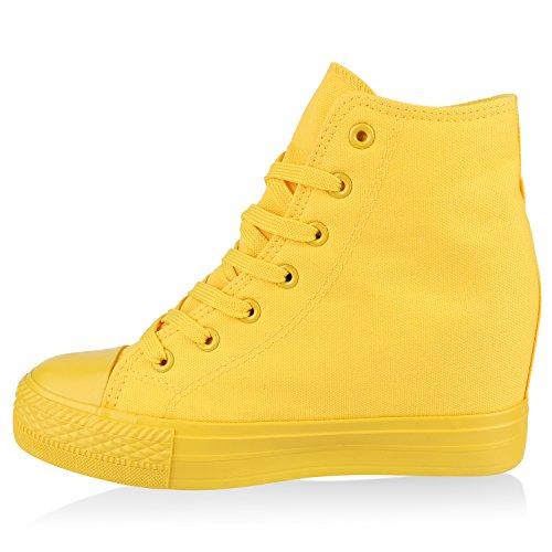 Gelb Flandell Wedges Total Übergrößen Damen Sneaker Stiefelparadies wqTZXR1
