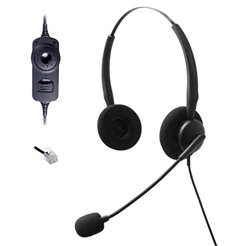 comdio-ch401va5-wired-headset-headphones-ear-phone-volume-mute-contorl-for-nortel-networks-nt-nother