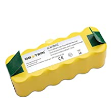 GBATERI 14.4V 4000mAh NiMh Replacement Battery for iRobot Roomba 500/600/700/800/R3 Series 500 510 530 531 532 535 536 540 545 550 551 552 560 561 562 570 580 581 585 595 600 610 620 625 630 650 660 700 760 770 780 790 800 870 880 R3 Robot APS Vacuum Cleaners-Yellow