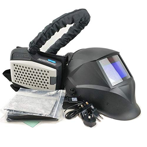 Powered Air Purifying Respirator Auto Darkening Welding Helmet, Personal Protective Equipment, Industry Welding Mask PAPR Kit (B. Helmet PAPR Kit)