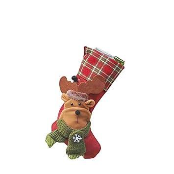 thematys Calcetín de Navidad Medias para Rellenar y Colgar en 10 diseños Diferentes - la decoración navideña (8): Amazon.es: Hogar