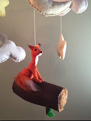 Fox baby mobile by Pinklemonco
