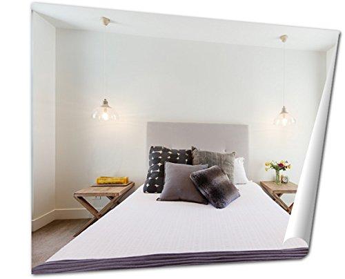 Hampton Poster Bed - Ashley Giclee Fine Art Print, Beautiful Hamptons Style Bedroom Decor in Luxury Home Interior, 16x20, AG6085714