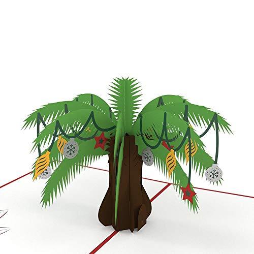 Lovepop Festive Palm Holiday Tree 3D Pop-Up Art Card