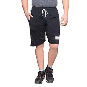 Krystle Men's|Boy's Cotton Hosiery Relaxed Shorts/Bermuda (Multicolor,Pack of 03)