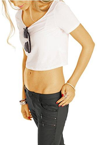 Jambe Femme bestyledberlin Jeans droite Gris q5ABPwZ