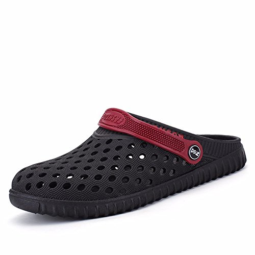 verano sandalias Chicos juvenil zapato Agujero zapato sandalias playa zapato estudiante Sandalias tendencia verano ,negro,US=9,UK=8.5,EU=42 2/3,CN=44