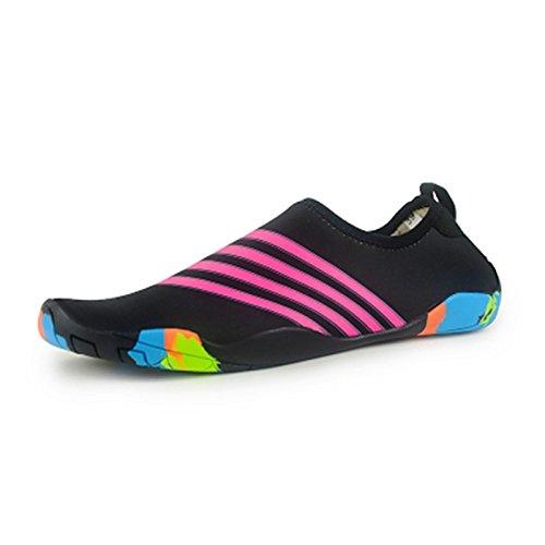 Negro Antideslizante Snorkel Azul Natación Adultos Zapatos Vadeando Buceo Suaves Estera Patines Calzados tesoro JUNHONGZHANG Barefoot Zapatos El Playa 4PRww