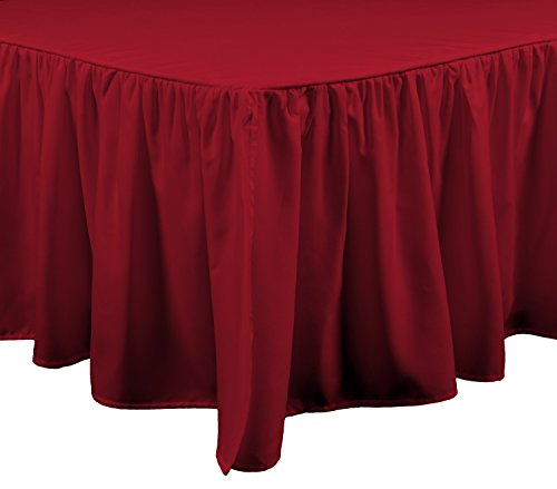 Brielle Essential Bed Skirt, King, Red (Barn Pottery Red)