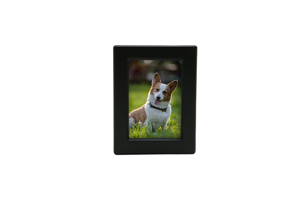 Near & Dear Pet Memorials MDF Photo Urn 40 Cubic Inch Black