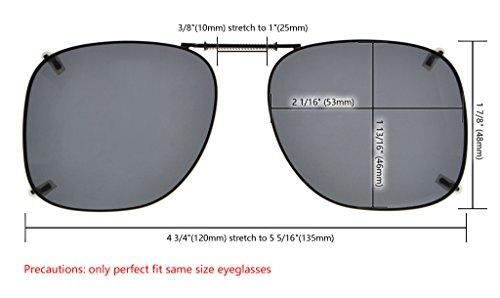 Eyekepper Sur-Lunettes de soleil polarisee - Monture metallique 53 46MM  3pcs Melangees ... 72ab952db673