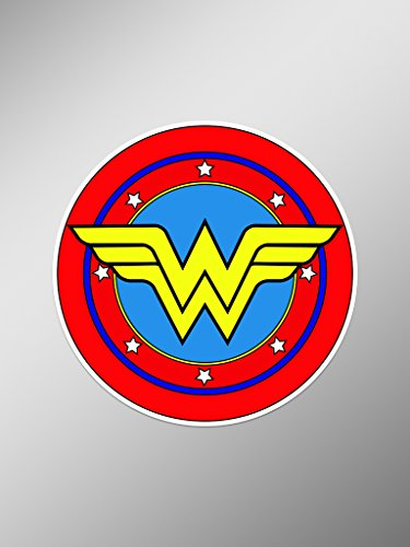 Retro Wonder Woman Symbol Vinyl Decals Stickers  | Cars Truc