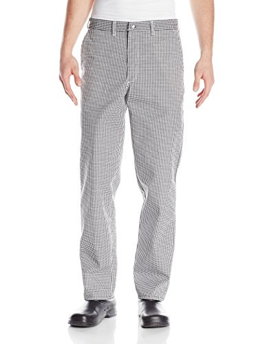 Chef Designs Men's Chef Pant, Black/White Check, (Style Chef Pants)