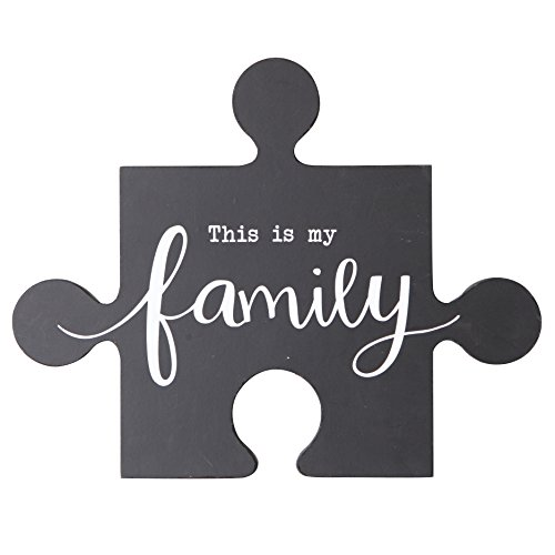 Piece Wooden Wall Plaque - NIKKY HOME This is My Family Inspirational Wood Puzzle Piece Wall Sign Plaque with Sayings