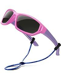 Polarized Kids Sunglasses For Boys Girls Child Rubber...