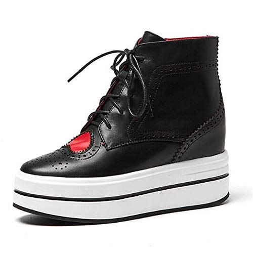 Comfort de Blanco ZHZNVX Leather Creepers Dedo del Mujer del Nappa Negro pie Sneakers Spring Black Zapatos Cerrado 5YTYqp