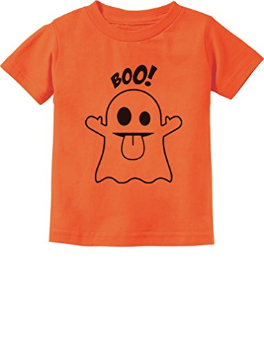 Baby Boo Ghost Costume Cute Easy Halloween Toddler/Infant Kids T-Shirt 4T Orange ()