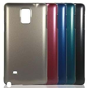 GX Teléfono Móvil Samsung - Cobertor Posterior - Color Sólido - para Samsung Galaxy Note 4 ( Negro/Rojo/Verde/Azul/Dorado , Plástico ) , Blue