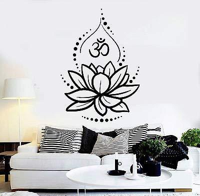 Amazon vinyl wall decal lotus flower yoga hinduism hindu om vinyl wall decal lotus flower yoga hinduism hindu om symbol stickers 4625 mightylinksfo
