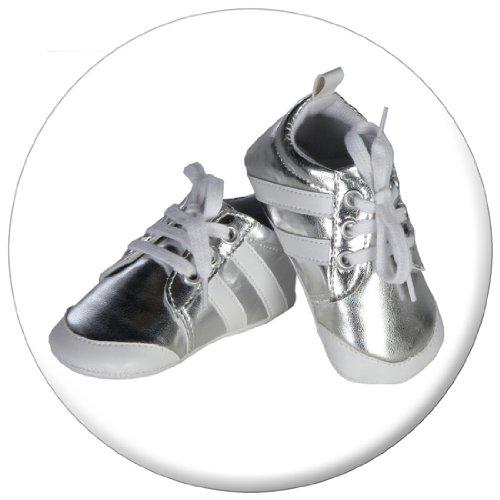 Little Treasures 200002 - Calzado de deporte de niño, color: plata