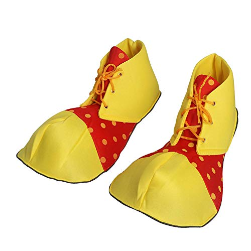 Polymer Large Clown Shoes Dot Halloween Costume Clown Shoes for Women Men Party Favors (One -