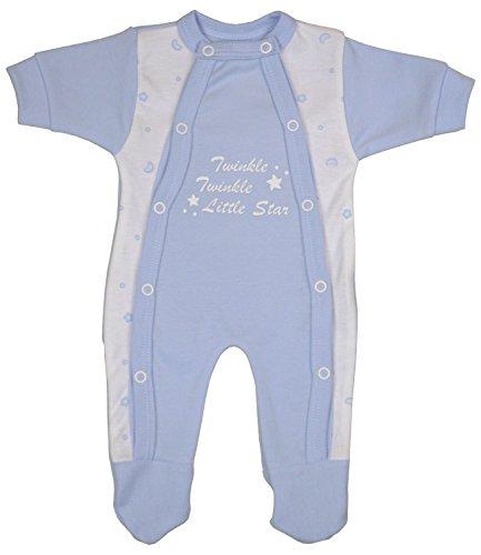 Babyprem Preemie Baby Twinkle Little Star Footie Clothes Blue Prem 1