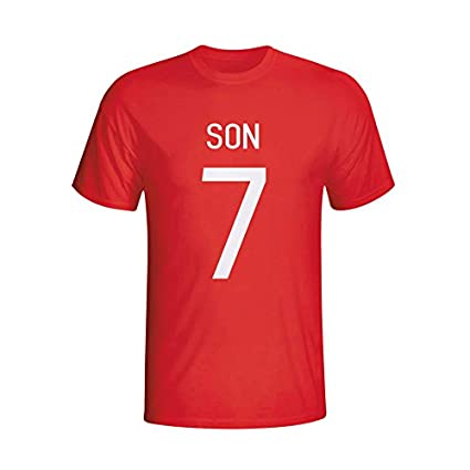 be11f4b5 Amazon.com : Gildan Son Heung-min South Korea Hero T-Shirt (red ...