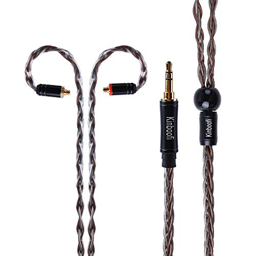 8 Core Silver Plated Copper & High Purity Copper Hybrid Braided in Ear Earphone Cable (MMCX, 3.5mm Plug) by KINBOOFI (Image #2)