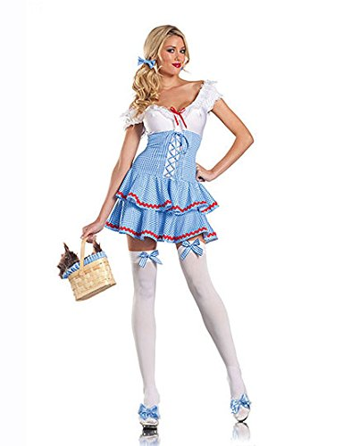 LLY Robe de Costume d'halloween Lingerie Sexy Maid Costume Uniformes Maid rôles Tentation Cosplay