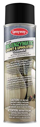 Sprayway SW589-12PK Bio Enzymatic Carpet and Upholstery Cleaner, 18 oz, Pack of 12