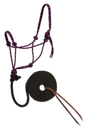 Weaver Leather Diamond Braid Rope Halter and Lead, Purple (Diamond Braid Rope)