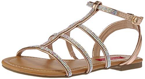 UNIONBAY Women Peggy Flat Sandal, Rose Gold, M095 M - Jeweled Pink Sandal