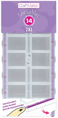 Craft Mates Lockables Double Extra Large (2 XL) Organizer with Fourteen (14) compartments