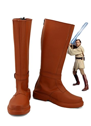 (Star Wars Jedi Knight Obi-Wan Kenobi Cosplay Shoes Costume Boots Custom)