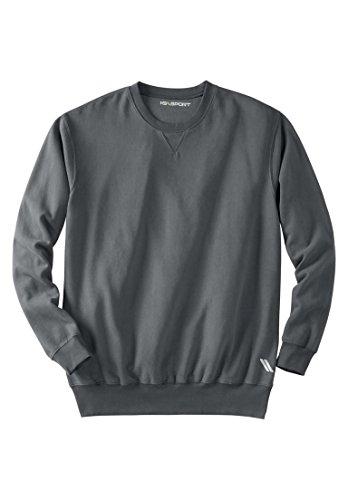 Crew Lightweight Sweatshirt (KingSize Men's Big & Tall Wicking Fleece Crewneck, Steel Tall-3Xl)