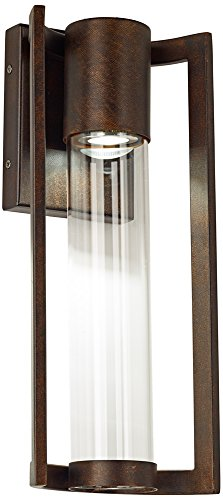 Maxfield Bronze 15'' High LED Outdoor Wall Light by Possini Euro Design