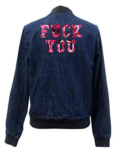 Girls Chaqueta Fuck You Freak Bomber Jeans Roses Certified IttxqUfHw
