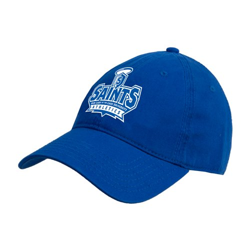 OLLU Royal Twill Unstructured Low Profile Hat 'Our Lady of the Lake University Athletics - Offical Logo' by CollegeFanGear