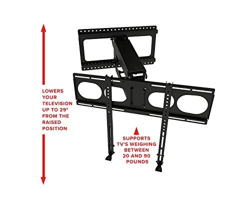 MantelMount MM340 Pull Down Fireplace TV Mount For 44''-80'' TVs Above Mantel by MantelMount (Image #4)