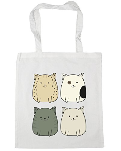 42cm Shopping litres HippoWarehouse Squad x38cm Kitty Tote Gym White Beach cat Bag 10 8wa6pOIq