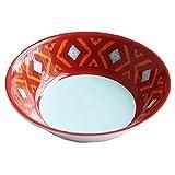 HiEnd Accents DI5002BW04 4 Piece Southwest Melamine Bowl, 7.5''