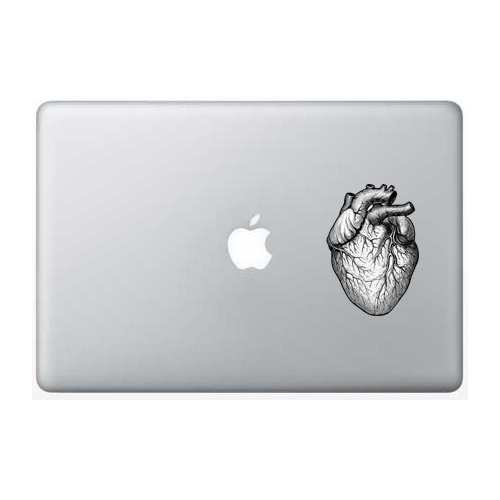 Heart-black-and-white - 5 Inch - Apple Macbook Laptop ()