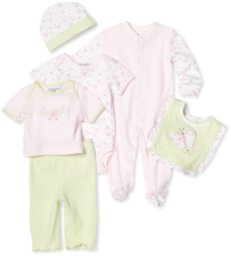 Kyle & Deena Baby-Girls Newborn Beautiful Butterfly Layette Sleepwear Set