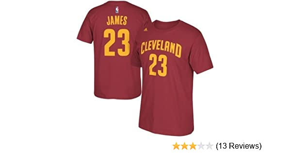 Amazon.com : Lebron James Cleveland Cavaliers Garnet Jersey Name and Number T-shirt X-Large : Sports & Outdoors