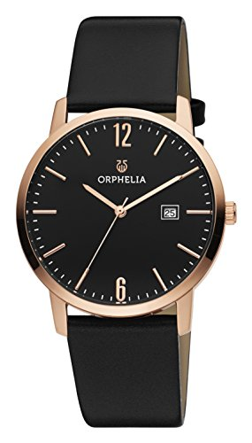 ORPHELIA Slimline Women's Black Leather watch-OR51704-1
