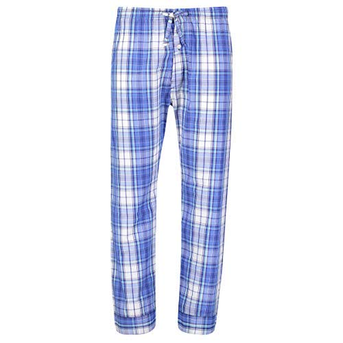 - Bill Baileys Mens Woven Pajama Pants Lounge Pants Sleep Pants Bottoms Sleepwear (Large, Teal Blue Plaid)