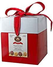 Red Gift Box Variety of Flavors Shortbread Cookies, Traditional, Maple, Chocolate Crunch, Dutch Choco, 480 Grams