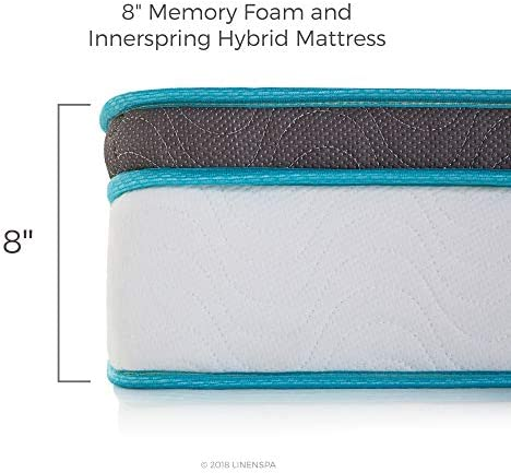 home, kitchen, furniture, bedroom furniture, mattresses, box springs,  mattresses 4 image Linenspa 8 Inch Memory Foam and Innerspring Hybrid promotion